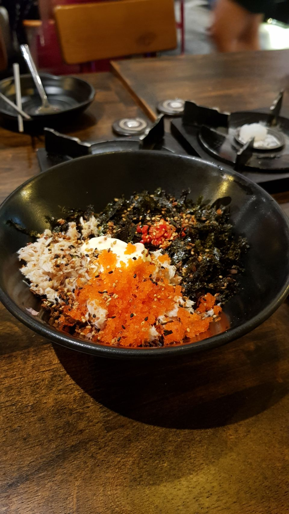 DIY Crabmeat And Roe Rice Ball