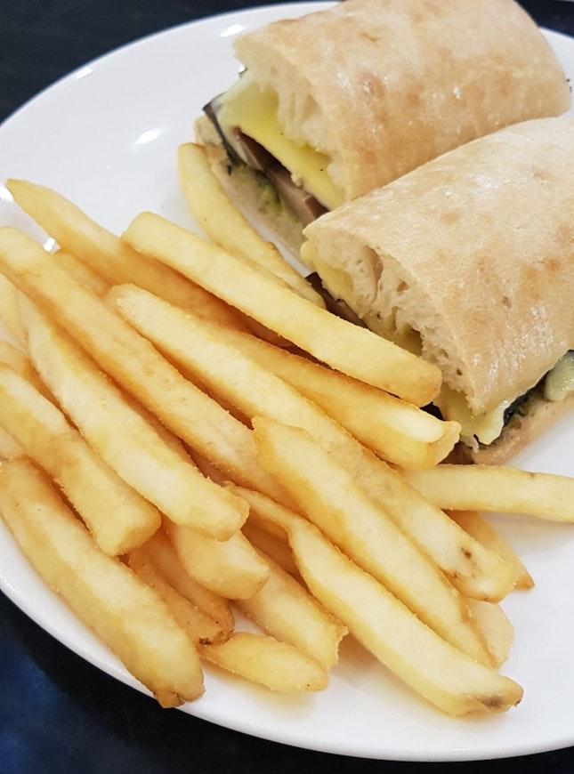 Portobello And Four Cheese Sandwich $16