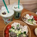 Green Tea With Java Chip + Chicken Soba Salad