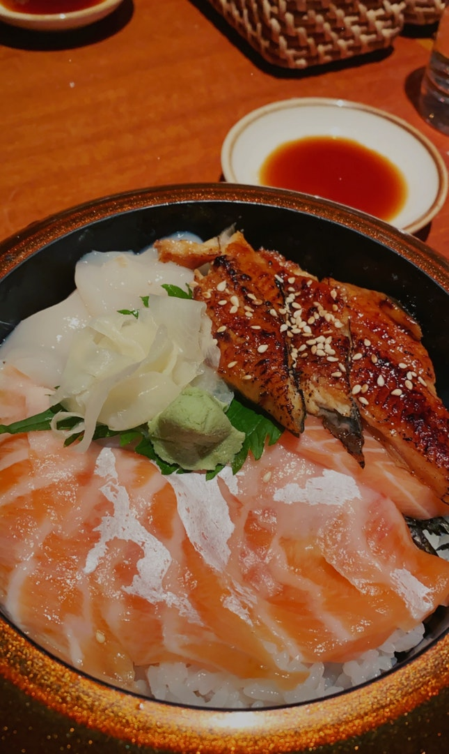 Salmon Belly And Unagi Set