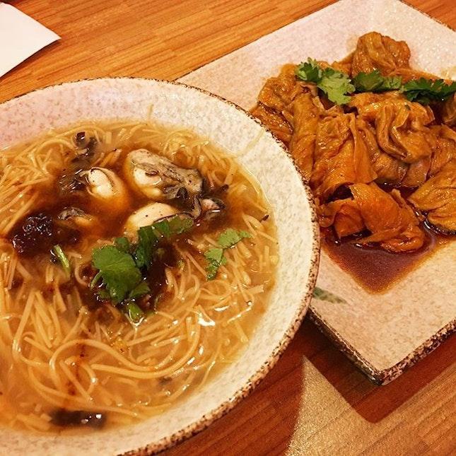蛤仔面线+豆腐皮 😋😋😋👍🏼 #melfclar #meesua #beancurd #payalebarsquare #taiwanfood