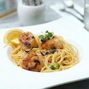 ❤️ my fav pasta 🍝  #dtccsg #aglioolio #pasta #scallop #theconnoisseurconcerto