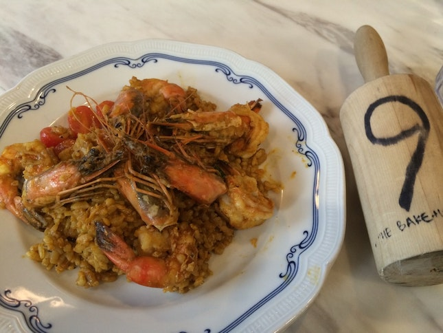 Grilled Tiger Prawns With Spiced Risotto