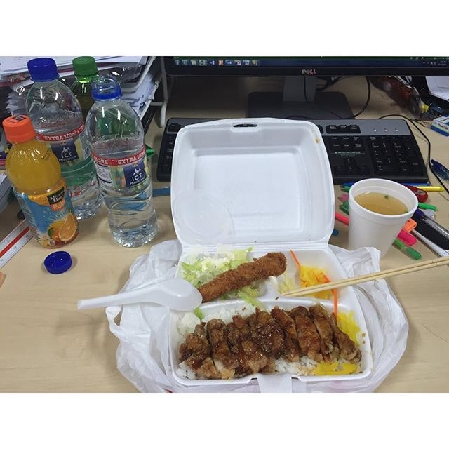 Throwback - My Dad brought me dinner for yesterday OT = Kazan Japanese Cuisine Chicken Teriyaki for dinner and drinks #ieatishootipost#hungrygowhere#instafood#foodporn#Rocasia#iweeklyfood#yummy#instagram#8dayseat#theteddybearman#eatoutsg#whati8today#yummy#eatoutsg#foodforfoodie#vscofood#igfoodie#eatingout#eatstagram#sgfood#foodie#foodstagram#SingaporeInsiders#sg50#100happydays#burpple