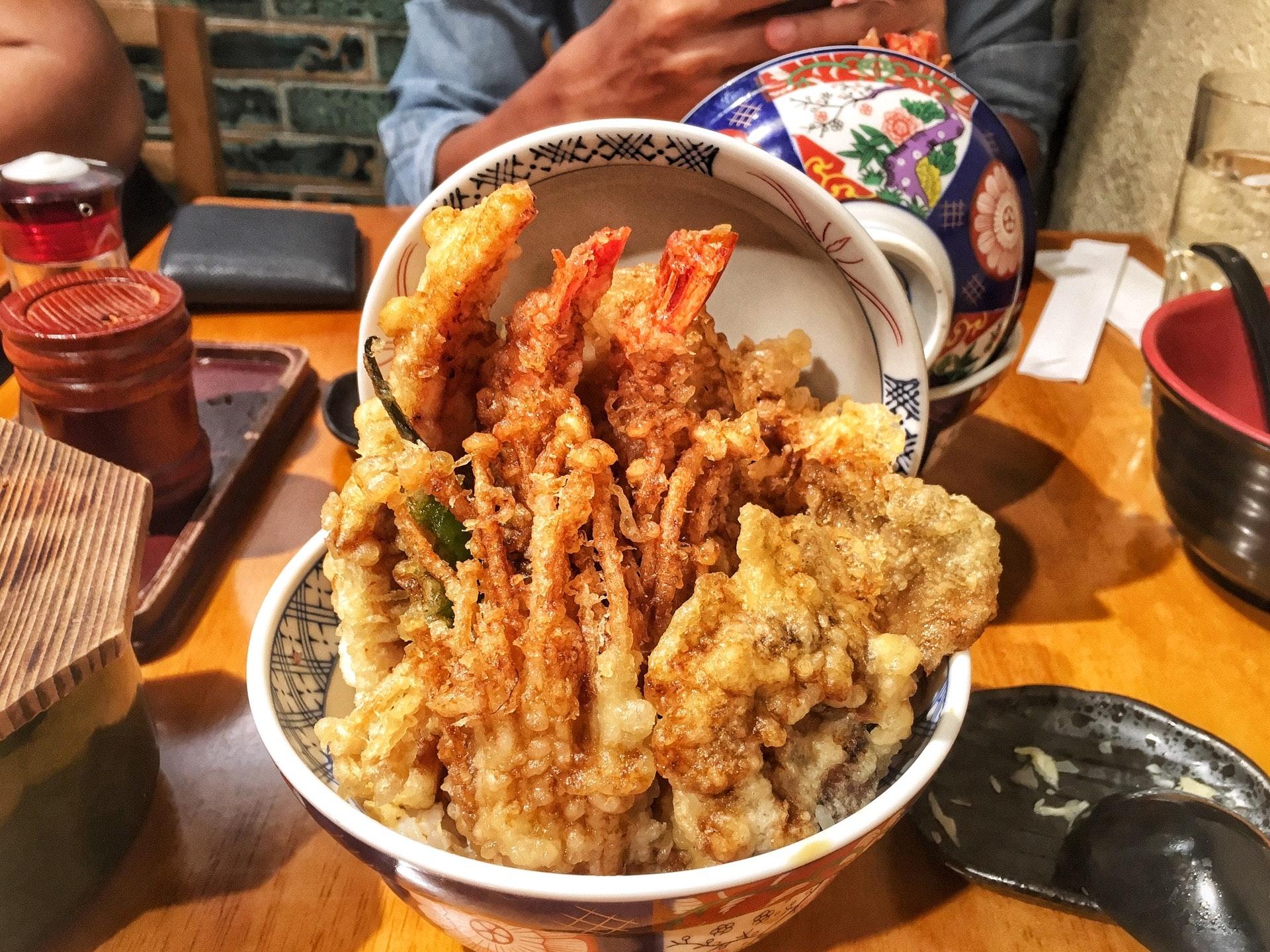 Seasonal Kohaku Tendon (mushroomssss!!)