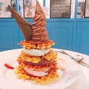 quad waffle tower x soft serve