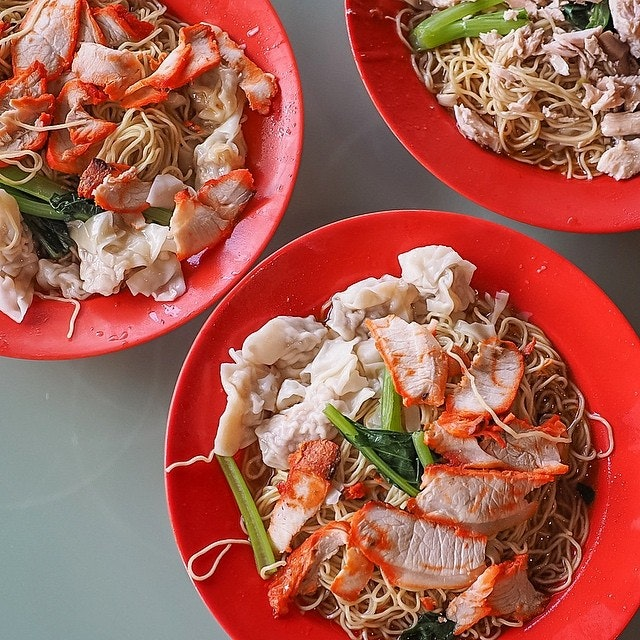 These bowls of wanton noodles are old school, simple & you can see that plating is probably their last priority here.