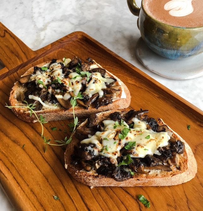 Roasted Mushroom and Creme Fraiche