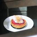 Sakura Raspberry Pie [S$9.00] ・ JW360° Cafe Sakura Raspberry Pie - Matcha & Raspberry Cream Pie topped w Sakura Meringue.