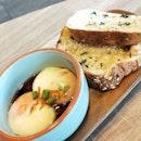 63deg sous vide truffled eggs ($6.90) | Never knew Joe & Dough had such an extensive food / breakfast menu!