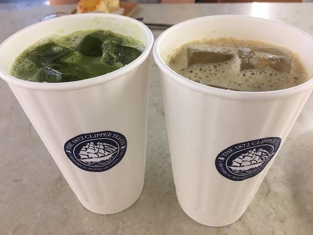 Hojicha Latte And Matcha Latte