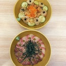 Scallop and Salmon Bowl And Hamachi Bowl