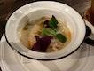 shrimp chawanmushi | edible garden city sorrel | young coconut
