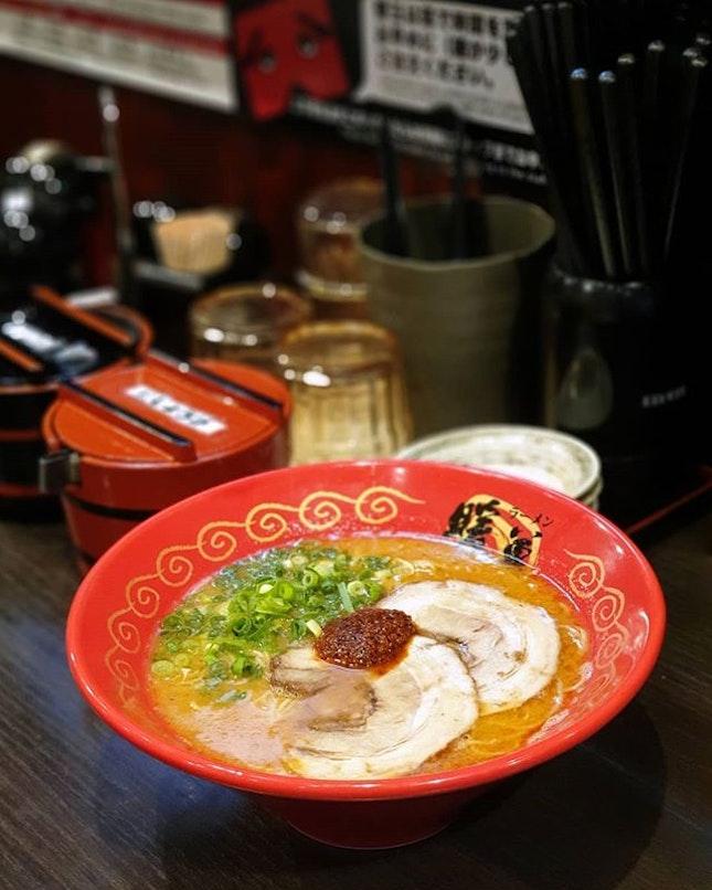 Danbo Spicy Ramen 烈火ラーメン 🌶️🍜 : : #japan #日本 #kyushu #九州 #fukuoka #福岡 #travel #mobilephotography #holiday #holidays #tourist #food #foodie #foodies #burpple #foodporn #instafood #gourmet #foodstagram #yummy #yum #foodphotography #烈火 #ラーメン #spicy #ramen #danbo #pork #dinner