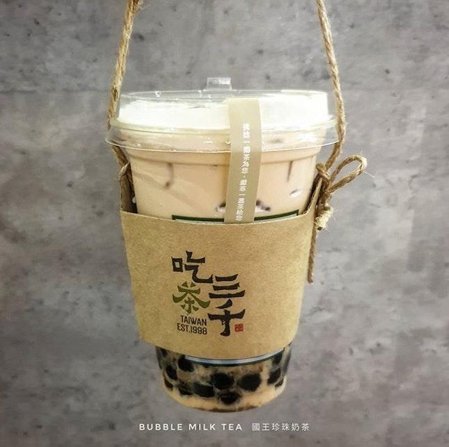 CHICHA San Chen Bubble Milk Tea 吃茶三千 國王珍珠奶茶 : : #singapore #sg #igsg #sgig #sgfood #sgfoodies #food #foodie #foodies #burpple #burpplesg #foodporn #foodpornsg #instafood #gourmet #foodstagram #yummy #yum #foodphotography #nofilter #taiwan #taiwanese #bubbletea #boba #milktea #tea #jurongeast #jem #吃茶三千 #珍珠奶茶