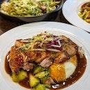 Pork Steak @ The Carving Board : : #singapore #sg #igsg #sgig #sgfood #sgfoodies #food #foodie #foodies #burpple #burpplesg #foodporn #foodpornsg #instafood #gourmet #foodstagram #yummy #yum #foodphotography #nofilter #weekday #dinner #2020 #pork #steak #coffeeshop #pestopasta #pasta #jurongeast