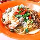 [📍人人吃麵]Enjoyed this warm prawn mee 🍜🦐Uncle persuaded me to take up $5 upsized .