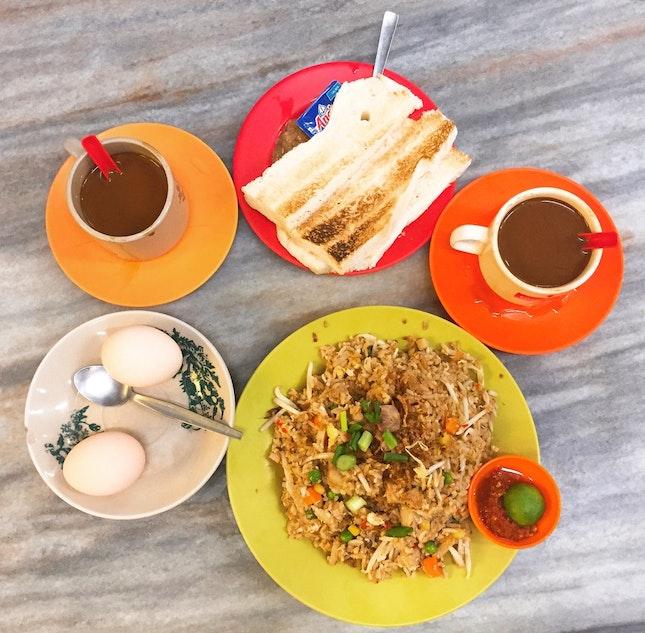Traditional Hainanese Kopitiam Breakfast