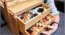 Ryu's Japanese Restaurant's Okamochi Bara Chirashi-Sushi Set ($45++) comes  in wooden drawers!