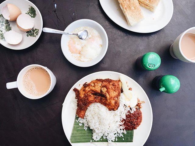 Classic Malaysian breakfast.