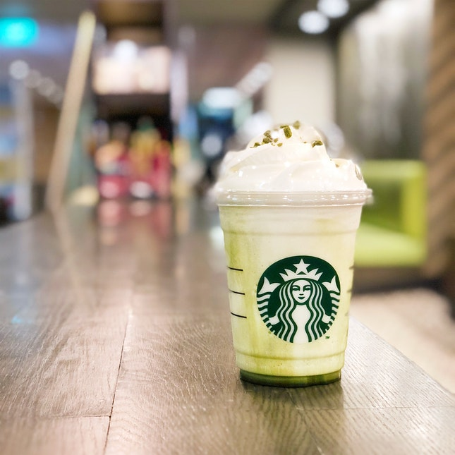 Green Tea Cheesecake Frappucino ($8.50)