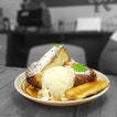 Brioche French Toast with Caramelised Banana & Ice Cream