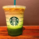 Iced Matcha and Espresso Fusion.