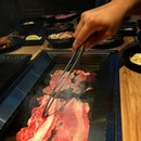 Nice buffet lunch at Gyuu+ with all the premium meat available for grill.
