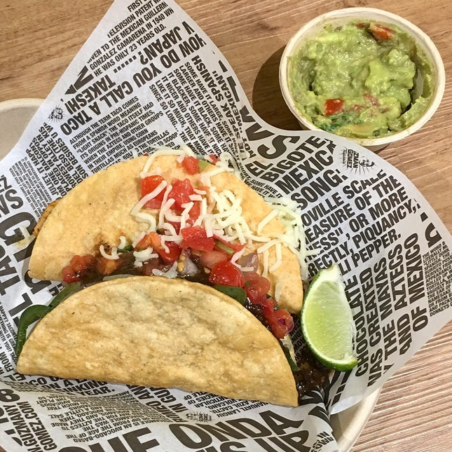 Because Tacos just have to be enjoyed the hard way.