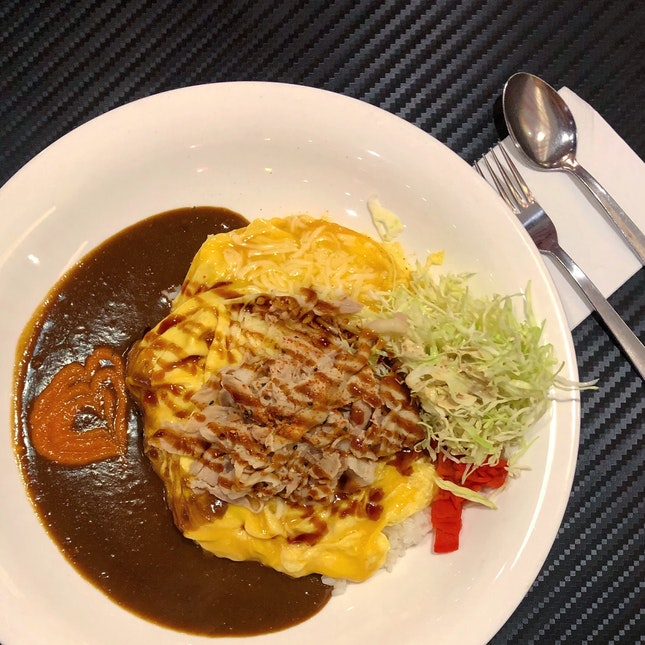 Pork Shabu-Shabu Omelette Curry