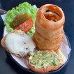 The Californian with Onion Rings