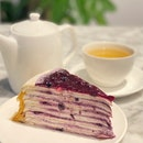 Blueberry Cheesecake Mille Crepes