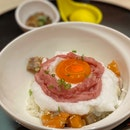 Ultimate Egg Rice with Negitoro and Marinated Salmon