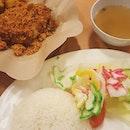 Ayam Penyet (S$9.50) for Dinner!