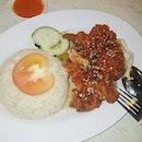 Thai Style Chicken Cutlet Rice  泰式雞扒飯 ($6.50+) 還蠻不錯的,只是泰式醬有點膩。喜歡他們家的辣椒,吃掉了兩小碟。下次要試原味雞飯!