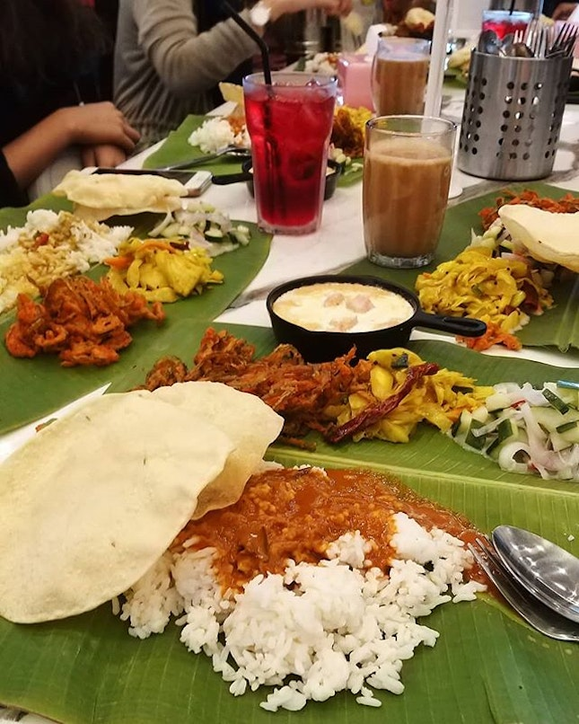 What do you call a delicious mess on top of fresh banana leaf?