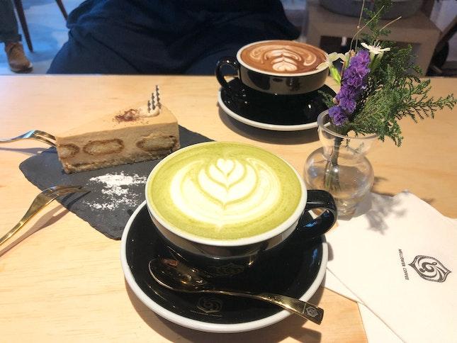 Matcha Latte, Caffe Mocha & Tiramisu