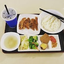 6.5🌟 / 10🌟 Fried Roast Pork Set @ S$9.90 from Woo's Ricebox Restaurant at Jurong Point Shopping Mall