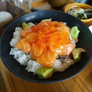 9🌟 / 10🌟 Yummy Salmon Ikura Don Set (Salmon sashimi and salmon roe on sushi rice) @ S$19.80 from Sumiya Restaurant at Orchard Central Mall
