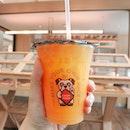 Had a refreshing navel orange juice at Habitat 🌞