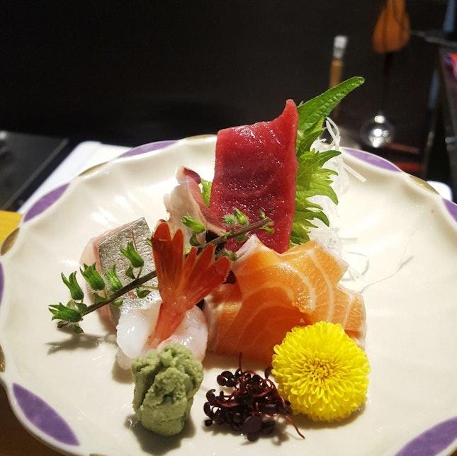 Unagi Set With Sashimi