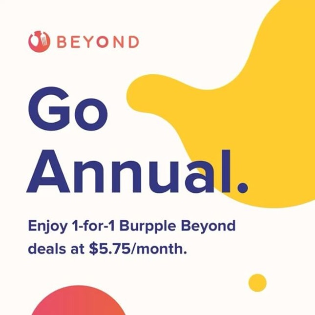 Going places with #burpplebeyond Super proud of the @burpple fam for building this program for consumers and hitting the spot with amazing restaurants brands that consumers love!