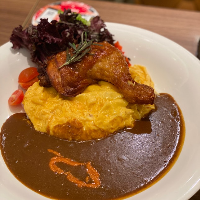 Jumbo Chicken Drumstick Omelette Curry