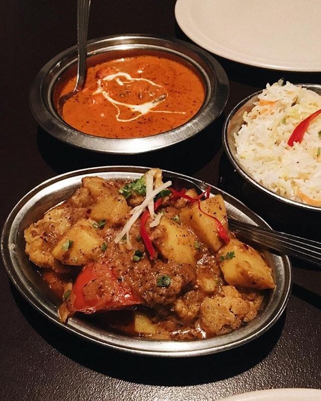 Murgh Tikka Butter Masala RM23.50   Aloo Gobi RM16   Gobi Manchurian RM16   Plain Briyani RM9