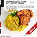 Lemongrass Chicken with Briyani Rice ($9.90)
