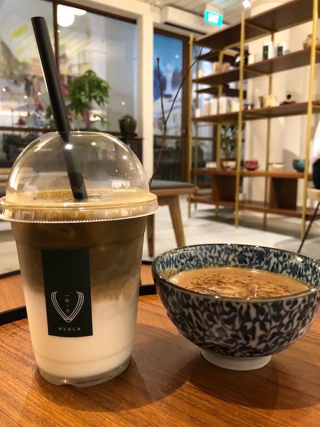 Hojicha Latte + Kinako Paste