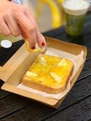 Honey Cheese Toast ($8.90)