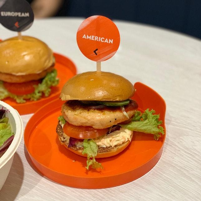 American Salmon Burger