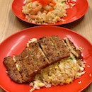 Egg Fried Rice With Pork Chop ($6.50) / Shrimp And Tobiko ($6.50+$1)