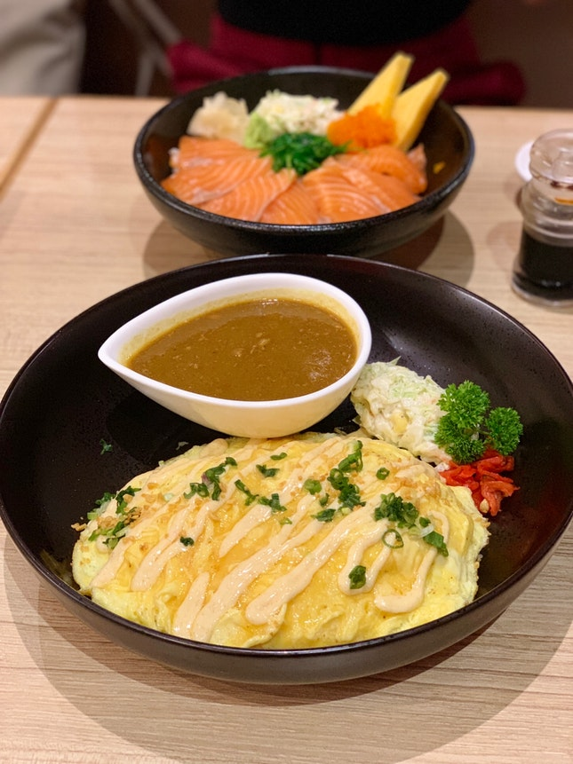 Mentaiko Beef Omu Rice